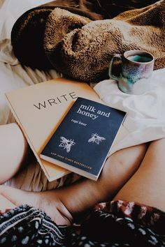 Let's get cozy and read books and drink coffee.