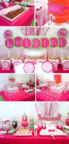 Cammi Lee Events: Dessert Table: Hello Kitty