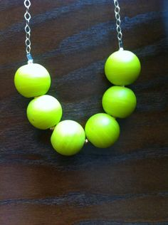 bright neon yellow glass bead necklace  Available nowon vauxswiftjewelry.com Neon Yellow, Glass Beads, Beaded Necklace, Bright, Jewelry, Beaded Collar, Jewlery, Pearl Necklace, Jewerly
