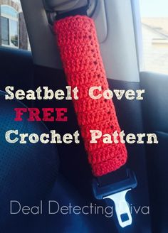 Need a quick crochet project? Are you just learning yourself? This crochet seatbelt cover pattern is FREE, easy and practical too!