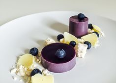 Combine a traditional panna cotta recipe with violet and blueberries and you transform a classic into this dessert that is both captivating and vibrant.