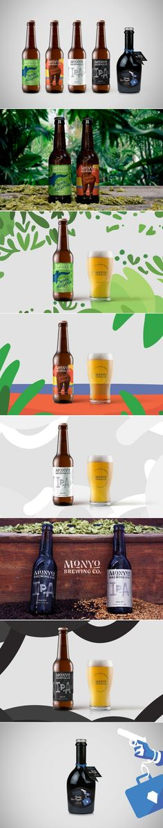 Check Out The Dynamic Packaging For These Brews Beer Packaging, Beverage Packaging, Brand Packaging, Packaging Design Inspiration, Graphic Design Inspiration, Design Ideas, Label Design, Package Design, Brand Identity Design