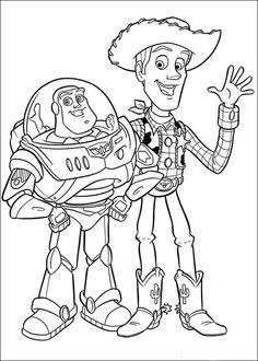 Buzz Lightyear And Sheriff Woody Greet