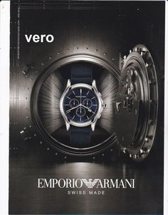 Emporio ARMANI  2014 watch magazine ad print page clipping advertisement vault
