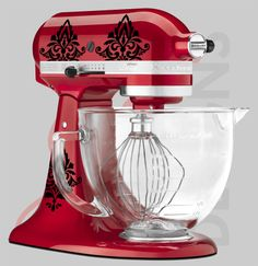 Kitchen Aid mixer damask decal  cooking baking by GrabersGraphics, $12.00