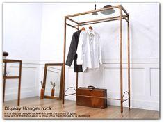 Wood Hanger izuya07964S ディスプレイハンガーラック什器 収納家具工業系 アンティーク インテリア 雑貨 Antique ¥68000yen 〆05月19日
