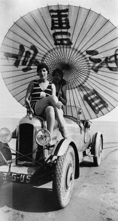 'Bibi on my Amilcar', Hendaye, France 1927. Photo by Jacques-Henri Lartigue. ☀