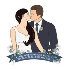 Personalised Illustrations with a touch of whimsical by PaperHeartIllustrate Wedding Illustration, Heart Illustration, Portrait Illustration, Couple Cartoon, Perfect Couple, Beauty Photography, Wedding Couples, Wedding Portraits, Perfect Wedding