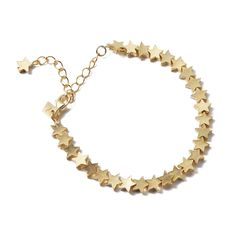 Tuleste Star Chain Bracelet in Gold | Plays well with similarly dainty, whimsical pieces