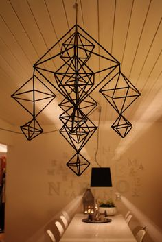MUST HAVE: HIMMELI. Finnish geometric mobiles known as himmeli.