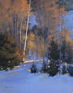 Evening Glimmer by artist Barbara Jaenicke. #art found on the FASO Daily Art Show -- http://dailyartshow.faso.com