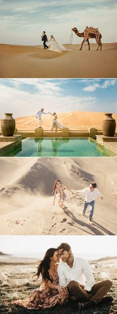 Fearless Love! 37 Adventurous Engagement Photos That Will Take Your Breath Away! Desert Adventure