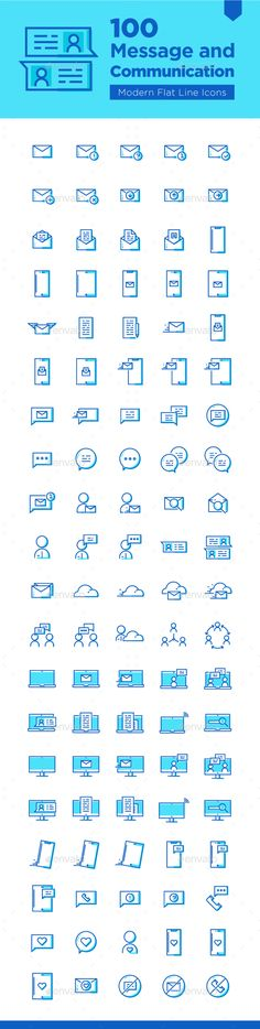100 #Message and #Communication #Icons - Business Icons