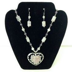 3-Piece Beaded Necklace Bracelet and Earring Set by AbbottsDesigns