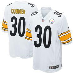 961729179 Nike James Conner Pittsburgh Steelers White 2017 Draft Pick Game Jersey
