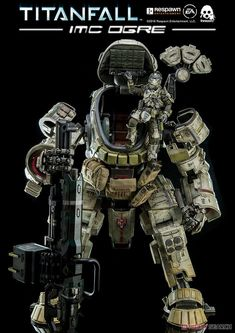 ThreeZero Titanfall IMC Ogre With Pilot Figure Collectible Model Robot Militar, Arte Gundam, Character Concept, Character Design, Arte Robot, Mekka, Futuristic Armour, Arte Cyberpunk, Sci Fi Models
