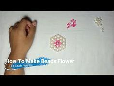 পুতির ব্যাগ এর ফুল তৈরি। how to make beads flower,for purse and bag. - YouTube