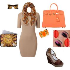 office by maritavzqz on Polyvore featuring polyvore fashion style Hermès Juicy Couture Rampage Ray-Ban