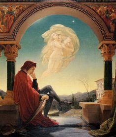 "Sir Joseph Noel Paton (Scottish, 1821-1900), ""Dante Meditating the Episode of Francesca da Rimini and Paolo Malatesta"" by sofi01, via Flickr"
