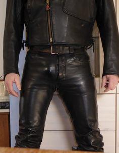 161905081615 Läder Mode, Herrmode, Lederhosen, Män, Läder, Skinnbyxor, Štýl, Spaljé