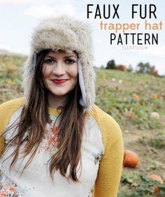 Faux Fur Trapper Hat Pattern