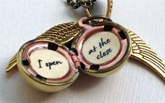Harry Potter Golden Snitch I Open at the Close by SimplyHarry, $29.00. Necklace idea to wear with my wedding dress
