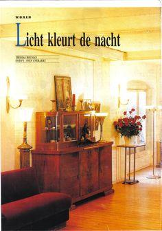 Article de Presse - Weekend Knack - April 1995 Toutes les lampes que vous voyez sur cette photo sont créées par Khris Kharboutli