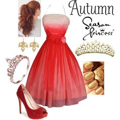 Season Princesses - Autumn by briony-jae on Polyvore featuring polyvore, fashion, style, Lauren Lorraine and Jamie Wolf