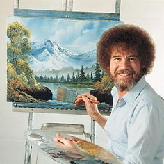He makes painting (and afros on white guys) manly