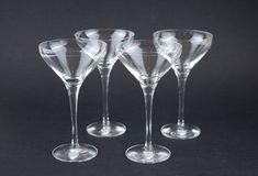Orrefors Sweden Liqueur Glasses - Mid Century Set of Four Fine Crystal Glassware - Cocktails