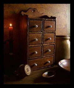Primitive Spice Cupboard
