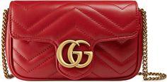 Love this pretty Gucci clutch!   GG Marmont matelassé leather super mini bag
