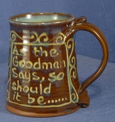 Slip-Decorated Tankard by Peter Currell-Brown, Snake Pottery As the Goodman Says