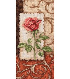 Shop for Gold Collection Petite Single Rose Counted Cross Stitch Kit Get free delivery On EVERYTHING* Overstock - Your Online Sewing & Needlework Shop! Cross Stitching, Cross Stitch Embroidery, Embroidery Patterns, Cross Stitch Rose, Cross Stitch Flowers, Cross Stitch Designs, Cross Stitch Patterns, Dimensions Cross Stitch, Single Rose