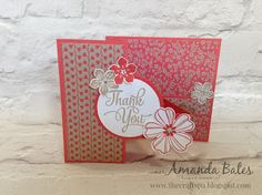 The Craft Spa - Stampin' Up! UK independent demonstrator : Affectionately Yours Small Square Double Z Panel Card