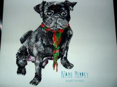 Pug illustration/ Mayo GAA Supporter :)