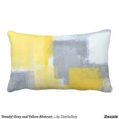'Steady' Grey and Yellow Abstract Art