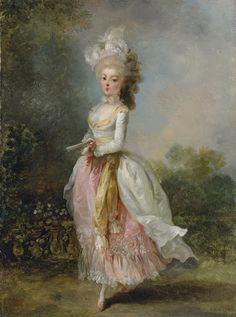 Portrait of a lady, said to be Marie-Madeleine Guimard. Jean-Frédéric Schall (French, Oil on canvas. Sold at the 'Princess Royal Sale' in these rooms in 1925 as a portrait of Madmoiselle. 18th Century Clothing, 18th Century Fashion, 19th Century, Marie Antoinette, High Society, Rococo Painting, Victorian Paintings, Kaiser Franz, Luis Xiv