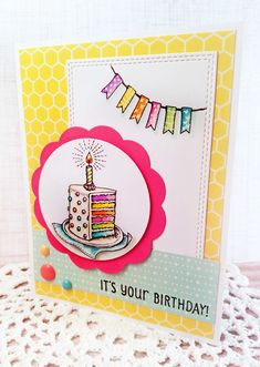 Out To Impress: Party Time stamp set by Power Poppy, card design by Julie Koerber