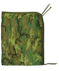 Genuine US Military All Weather Poncho Liner Blanket Genuine U.S Military Issue Poncho Liner Size: x With Ties. USA Made Color: Woodland Camouflage.