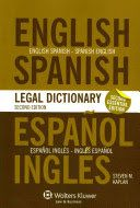 With more than 45,000 entries covering all areas of law, plus relevant terms in related spheres of expertise, this new Essential Edition is based on the popular Third Edition of the English/Spanish and Spanish/English Legal Dictionary. These are the dictionaries that lawyers, law students, translators, and those working in English and Spanish in law and associated fields have been trusting since the First Edition was published in 1993. Because of its straightforward and naturally…