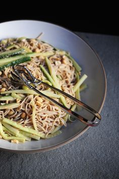 Soba Noodles with Peanut Dressing