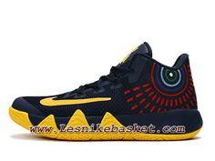 buy popular f5d01 a1e6c Basket Nike Kyrie 4 Deep Bleu Jaune Chausport Officiel NIke Prix Pour HOmme
