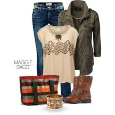 """Autumn Selection"" by maggiebags on Polyvore high school outfits"