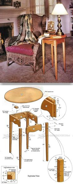 Small Tea Table Plans - Furniture Plans and Projects | WoodArchivist.com