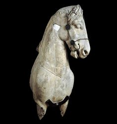 This dynamic horse statue was part of one of the Seven Wonders of the Ancient World! It once stood on the Mausoleum at Halikarnassos, an ancient Greek city in what is now modern-day Turkey. It was part of a four-horse chariot positioned on the top of a grand stepped pyramid that crowned the Mausoleum...