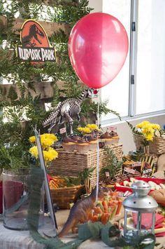 Jurassic Park Birthday Party via Kara's Party Ideas | The Place for All Things Party! KarasPartyIdeas.com #jurassicparkparty (7)
