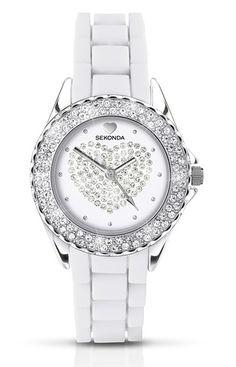Sekonda Party Time Heart White Ladies Watch 4606  See more SEKONDA Watches at:-  http://www.watcho.co.uk/watches/sekonda.html