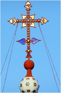 σταυρός στο Άγιον Όρος - cross on Mount Athos, Greece Christmas Ornaments, Holiday Decor, Home Decor, Decoration Home, Room Decor, Christmas Jewelry, Interior Design, Christmas Decorations, Home Interiors