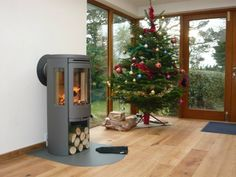 Contura 556 wood burning stove installation from Kernow Fires. Wood Burning Logs, Log Burning Stoves, Modern Log Burners, Contemporary Wood Burning Stoves, Wood Burner Fireplace, House Extension Plans, Hearth Stone, Stove Installation, Big Living Rooms